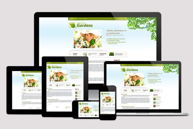 Responsive website adapts to the size of the visitor's device.